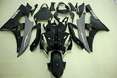 New ABS Grey Black Gray Injection Fairing Kit for Yamaha YZF-R6 2006-2007