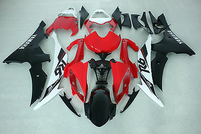 New ABS Red White Black Injection Fairing Kit for Yamaha YZF-R6 2008-2016