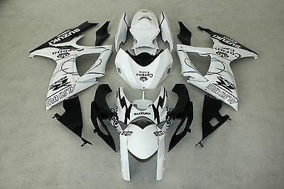New ABS White Corona Injection Fairing Kit for Suzuki GSXR600/750 2006-2007