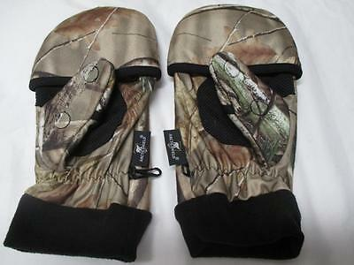 ARCTIC SHIELD MITTENS Realtree Finger System Camouflage Mossy Oak Medium  ~NEW~