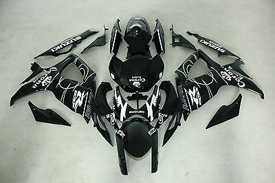 New ABS Black Corona Injection Fairing Kit for Suzuki GSXR600/750 2006-2007