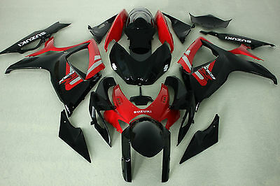New Stock red black injection Fairing Kit for Suzuki GSXR600/750 2006-2007 ABS