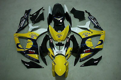 New Yellow corona injection Fairing Kit for Suzuki GSXR600/750 2006-2007 ABS
