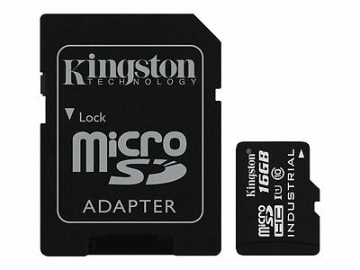 Kingston Flash memory card (microSDHC to SD adapter included) 16 GB UHS Class 1
