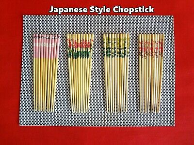 NEW Japanese Style Good Quality Chopsticks 5 pairs (5 patterns) (A100)