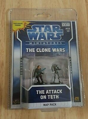 Star Wars Miniatures The Clone Wars Figures Attack on Teth Map Pack Exclusive
