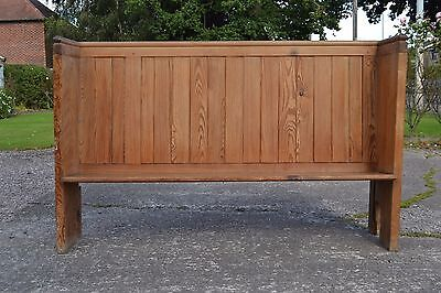 Gorgeous Antique Victorian Pine Church Pew Settle Monks Bench 6` Foot Long