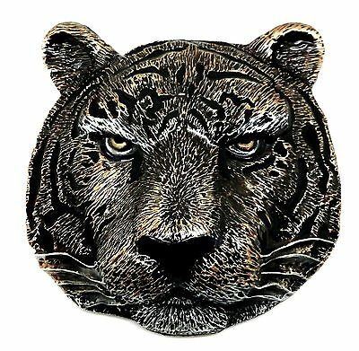 Tiger Head Belt Buckle 3D Wild Animal Big Cat Authentic Dragon Designs Product
