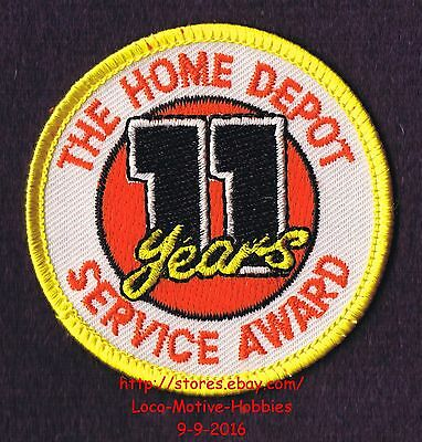 LMH PATCH Badge  HOME DEPOT Customer Merit  11 YEARS SERVICE AWARD Year  2-1/2""