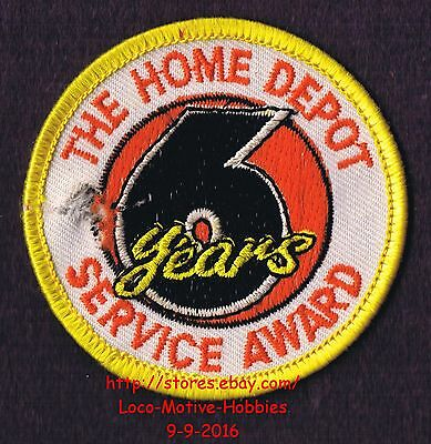 LMH PATCH Badge  HOME DEPOT Customer Merit  6 YEARS SERVICE AWARD Year  2-1/2""
