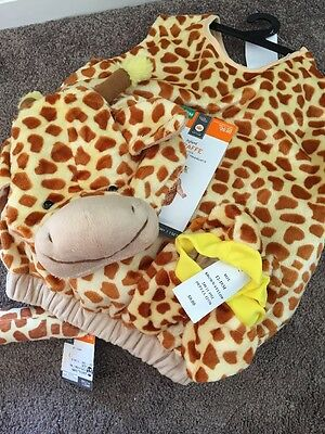 Infant Giraffe Costume 12-18 mo.  Includes: Costume, Booties, Headpiece, Tail