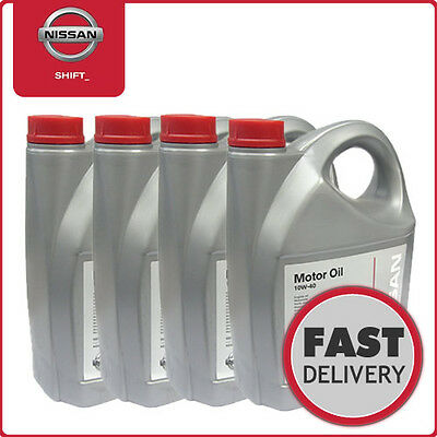 Genuine Nissan 10W40 Semi Synthetic Motor/Engine Oil 4x5 litres (KE90099942 x 4)
