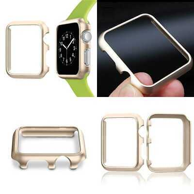 GOLD ALUMINUM Hard Cover Protector Case Bumper For iWatch 42MM APPLE WATCH 1