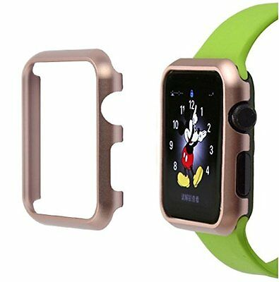 ROSE GOLD ALUMINUM Cover Protector Case Bumper For iWatch 38MM APPLE WATCH 1