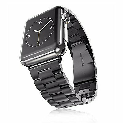 CLASSIC BLACK STEEL Wristband Band Strap Accessories For iWatch 42MM APPLE WATCH