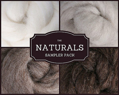 THE NATURALS Roving Palette Wool Roving 4 Sale Needle Felting Supplies, Spinning