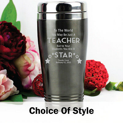 Personalised Teacher Quote Travel Mug Gift | Add a Name & Message
