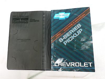 1995 Chevrolet S-Series Pickup Owners Manual Owner's Reference Guide Book