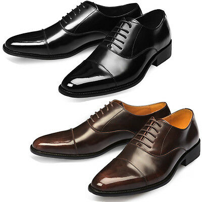 Mooda Mens Leather Oxfords Shoes Classic Formal Lace up Dress Shoes Aura UK