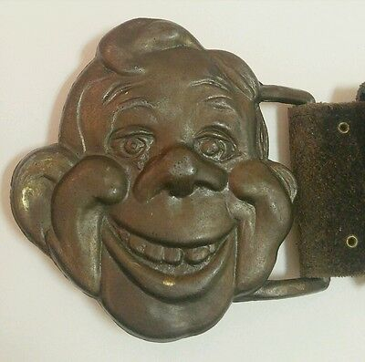 Howdy Doody Belt & Buckle Vintage NBC 1971 small Custom Design Products