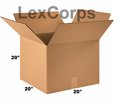 SHIPPING BOXES 10 Pack 20x20x20 Mailing Moving Box Cardboard Storage Packing