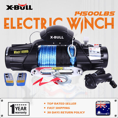 X-BULL 12V 14500LBS New Electric Winch Wireless Synthetic Rope 4WD Truck Offroad