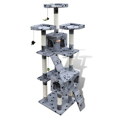 Cat Tree 170 Grey Pet Scratcher Post Cando Poles House Gym Furniture Scratching