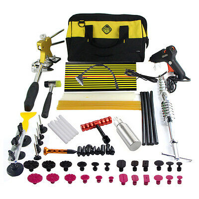 PDR Paintless Hail Puller Rods Kits Dent Repair Removal Hammer Ding Wedge Tools