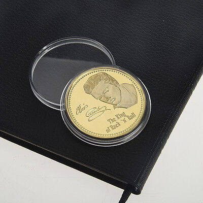 Elvis Presley 1935-1977 The King of N Rock Roll Gold Art Commemorative Coin