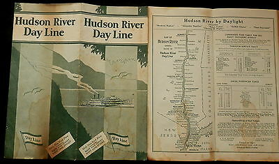 HUDSON RIVER DAY LINE 1931 Timetable