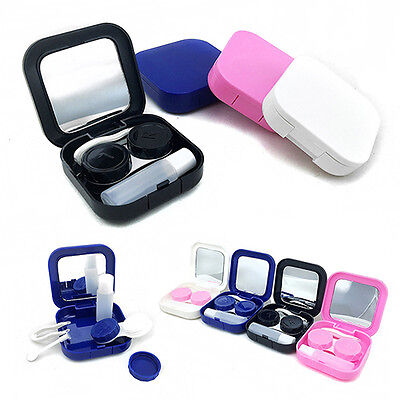 Portable Contact Lens Case Container Travel Kit Set Storage Mirror Box Trendy