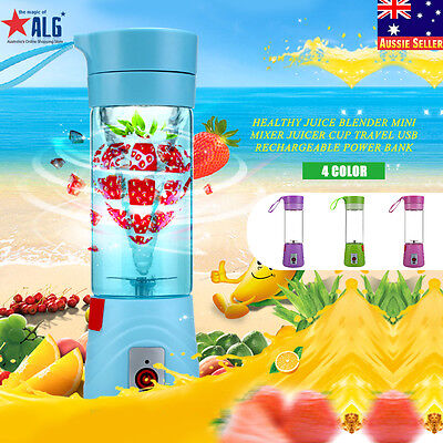 Healthy Portable Juice Blender Bottle Mini Mixer Juicer Cup Travel Smoothie USB