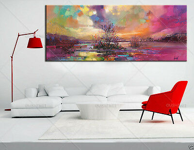 Modern wall art Home Decorative colorful sky oil Painting on canvas (with Framed