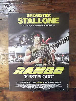 Rambo: First Blood, French Affiche Original Movie Poster, Stallone, '82