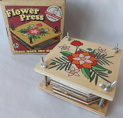 Rustic Wooden Vintage Style Retro Traditional 10cm Flower Press