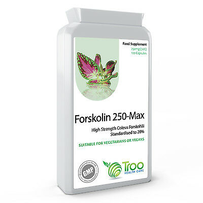 Forskolin 250mg 120 Capsules - Coleus Forskohlii Extract Weight Loss Fat Burner