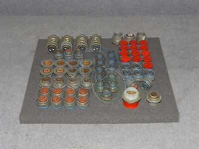 Lot Of 60 Assorted Bendix Military Connector Electrical Plug