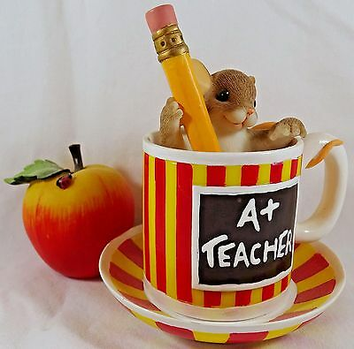 Charming Tails Figurine You Give Me Fuel For Thought Teacher