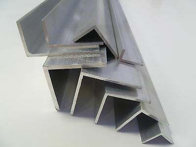 ALUMINIUM EXTRUDED ANGLE -Various Sizes  15x15-40x40mm 0.5m-3.0m LONG