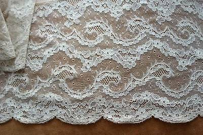 """Antique French Lace trim from petticoat 5.5"""" x72"""" 1.83m"""
