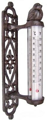 Thermometer Gusseisen Vogel Wandthermometer Gartenthermometer