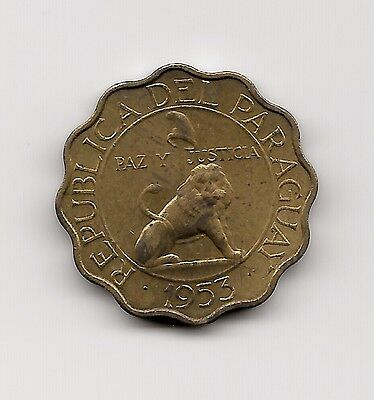 World Coins - Paraguay 50 Centimos 1953 Coin KM# 28 Lot-P3