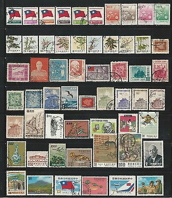 China: Lot of used 70 stamps differents modern. CI13