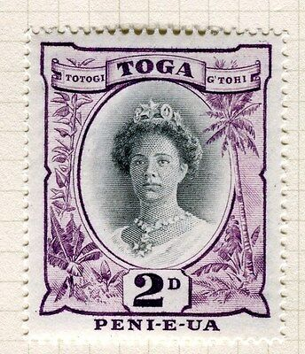 TONGA;  1942 early Queen Salote issue fine Mint hinged 2d. value