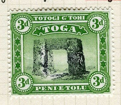 TONGA;  1942 early Queen Salote issue fine Mint hinged 3d. value