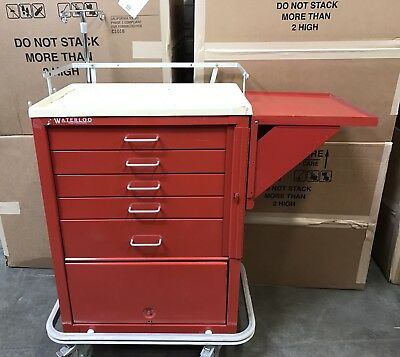Crash Cart Red 5 Drawer Unicart