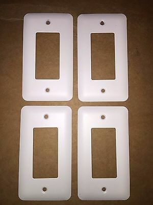 4 pcs White Switchplate Combo Rocker / GFI Duplex Outlet light cover New