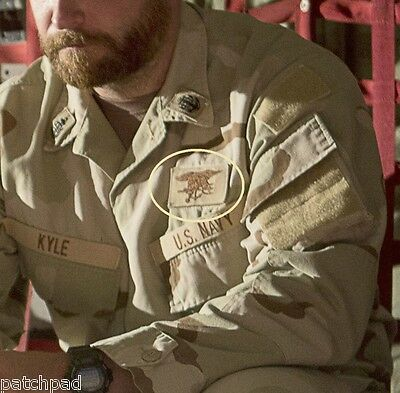 DAESH WHACKER© SPECIAL WARFARE TROPHY vel©®��PATCH: SEAL TRIDENT Desert INSIGNIA