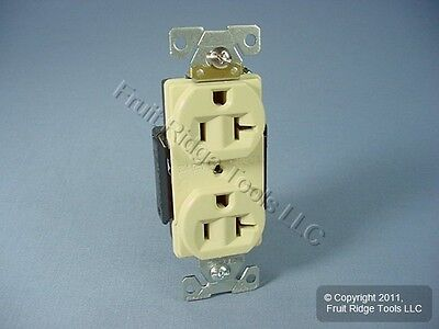 Cooper Ivory INDUSTRIAL Straight Blade Duplex Outlet Receptacle 5-20R 20A 5352V