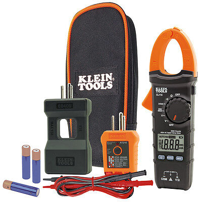 Klein CL110KIT Electrical Maintenance Volt/Amp Digital Clamp Meter Test Kit NEW